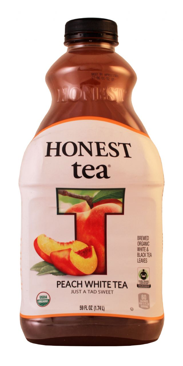 Honest Tea (PET): Honest PeachWhtie Front