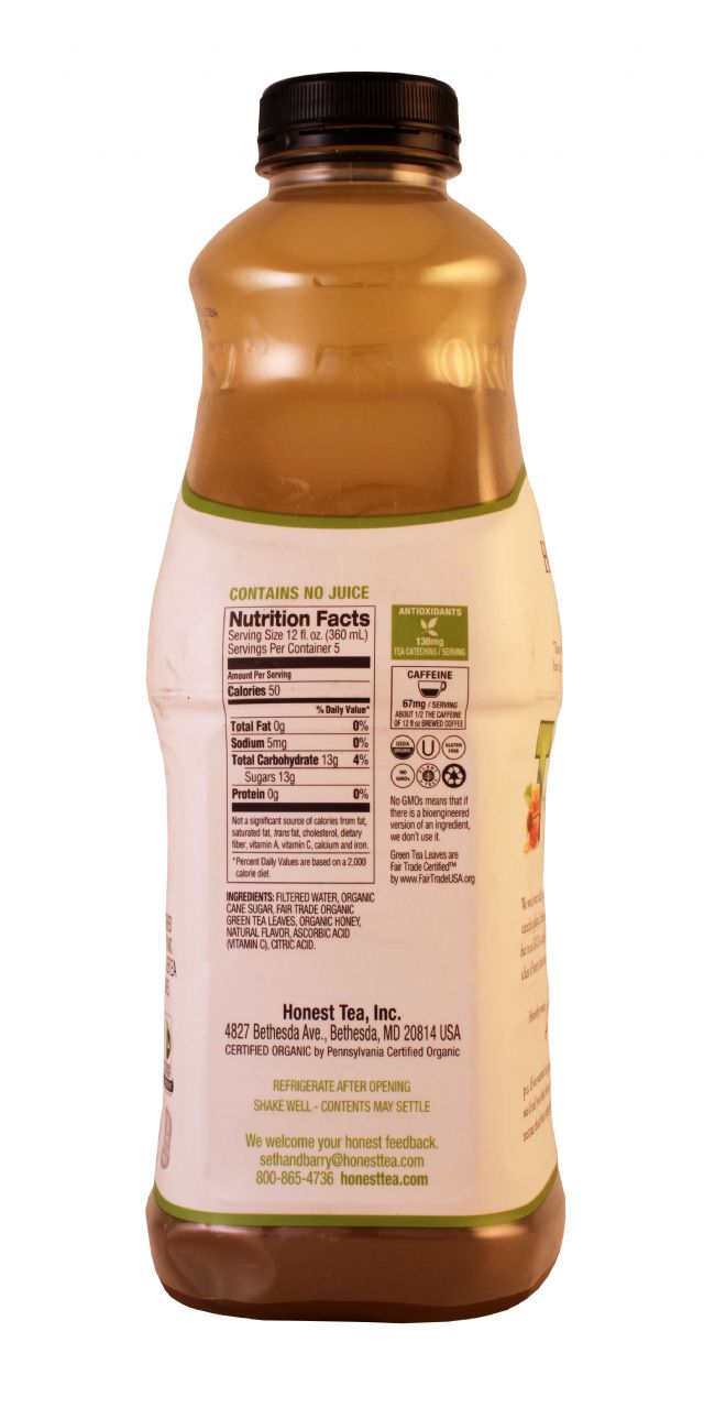 Honest Tea (PET): Honest HoneyGreen Facts