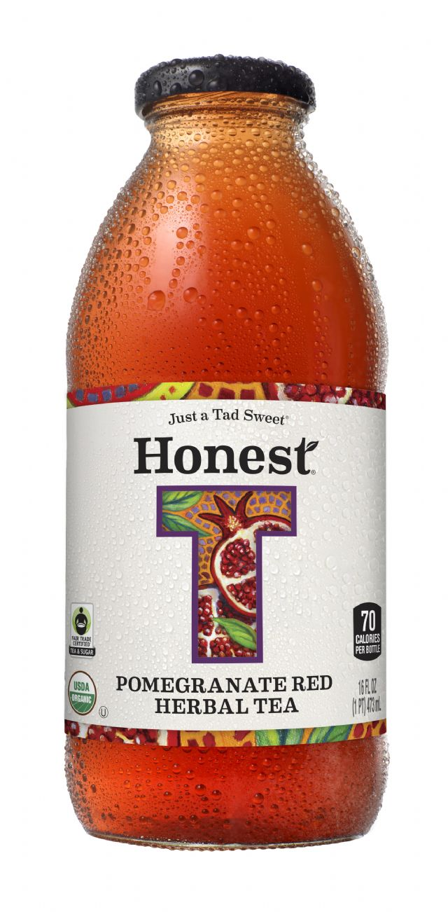 Honest Tea (Glass): HonestGlass PomRed