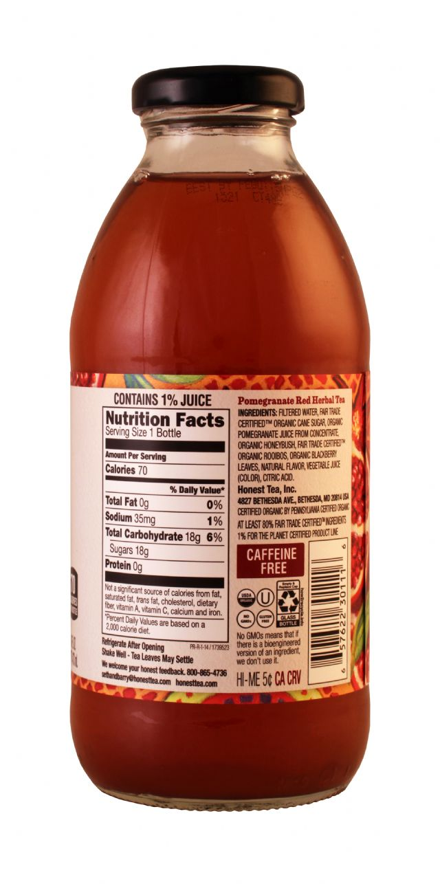Honest Tea (Glass): HonestTea PomRed Facts