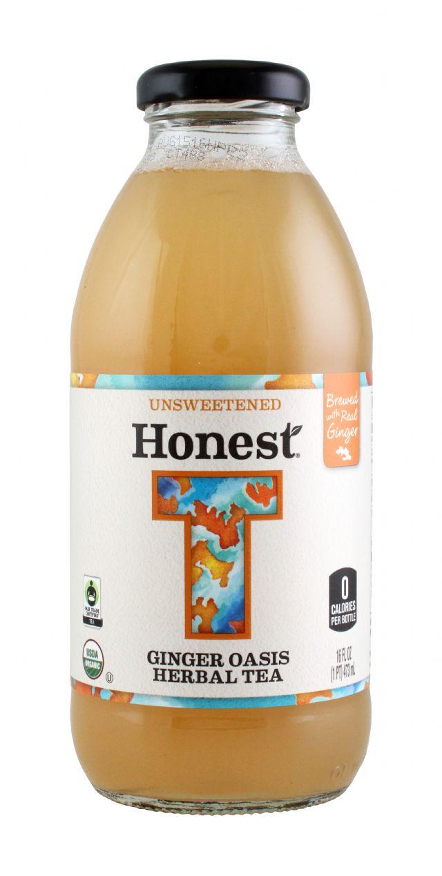 Honest Tea (Glass): Honest Ginger Front