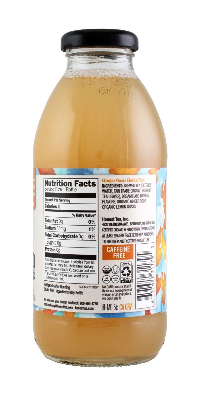 Honest Tea (Glass): Honest Ginger Facts