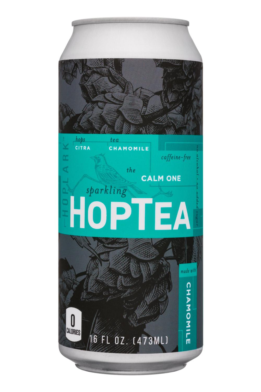 HopTea: HopLark-16oz-HopTea-Chamomile-CalmOne-Front