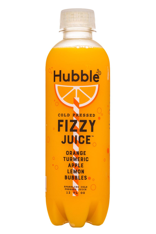 Hubble: Hubble-12oz-FizzyJuice-OrangeTurmericAppleLemon-Front
