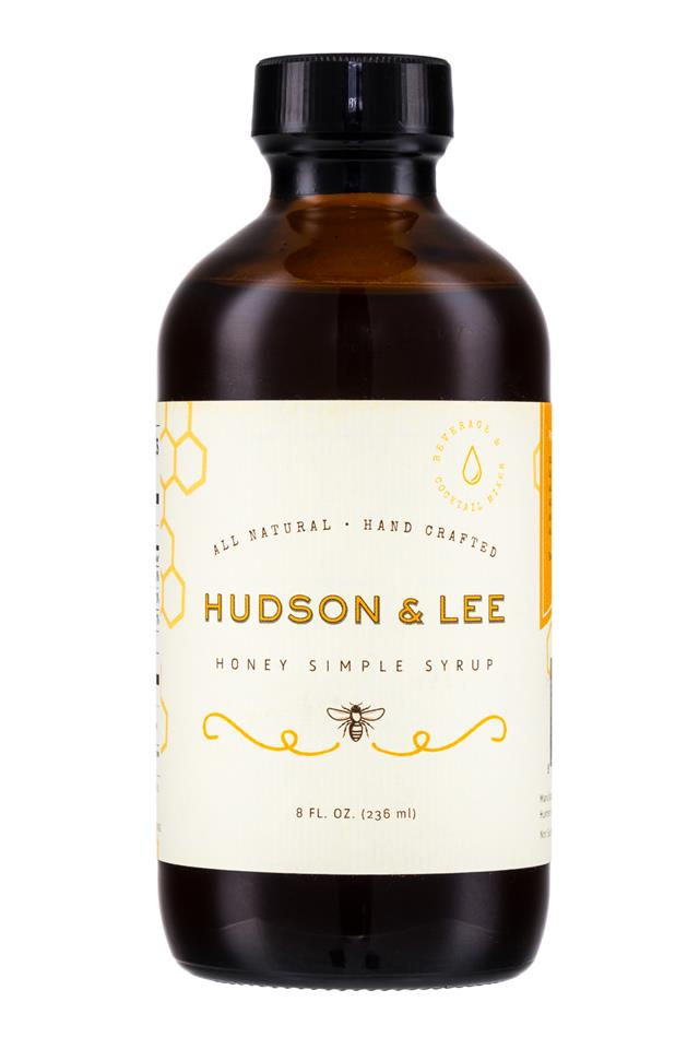 Hudson & Lee: HudsonAndLee-HoneySimpleSyrup-8oz-Front