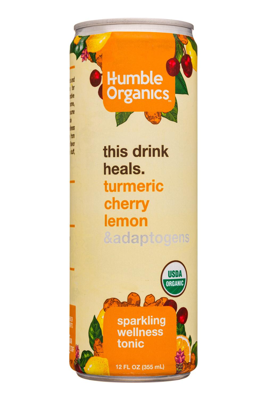 Humble Organics: HumbleOrganics-12oz-SparklingTonic-TurmericCherryLemon-Front