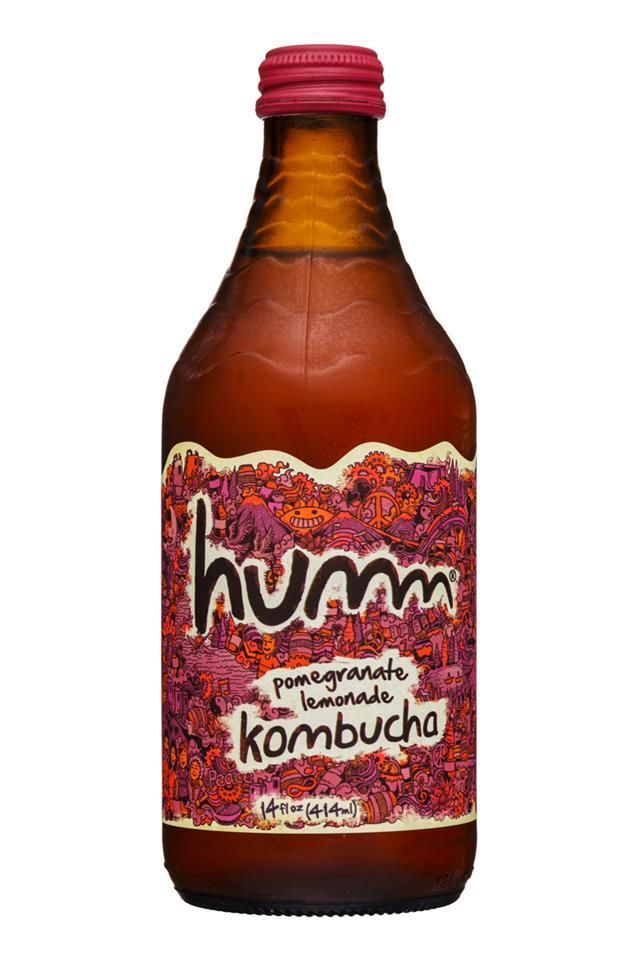 humm kombucha: Humm-14oz-Kombucha-PomLemonade-Front