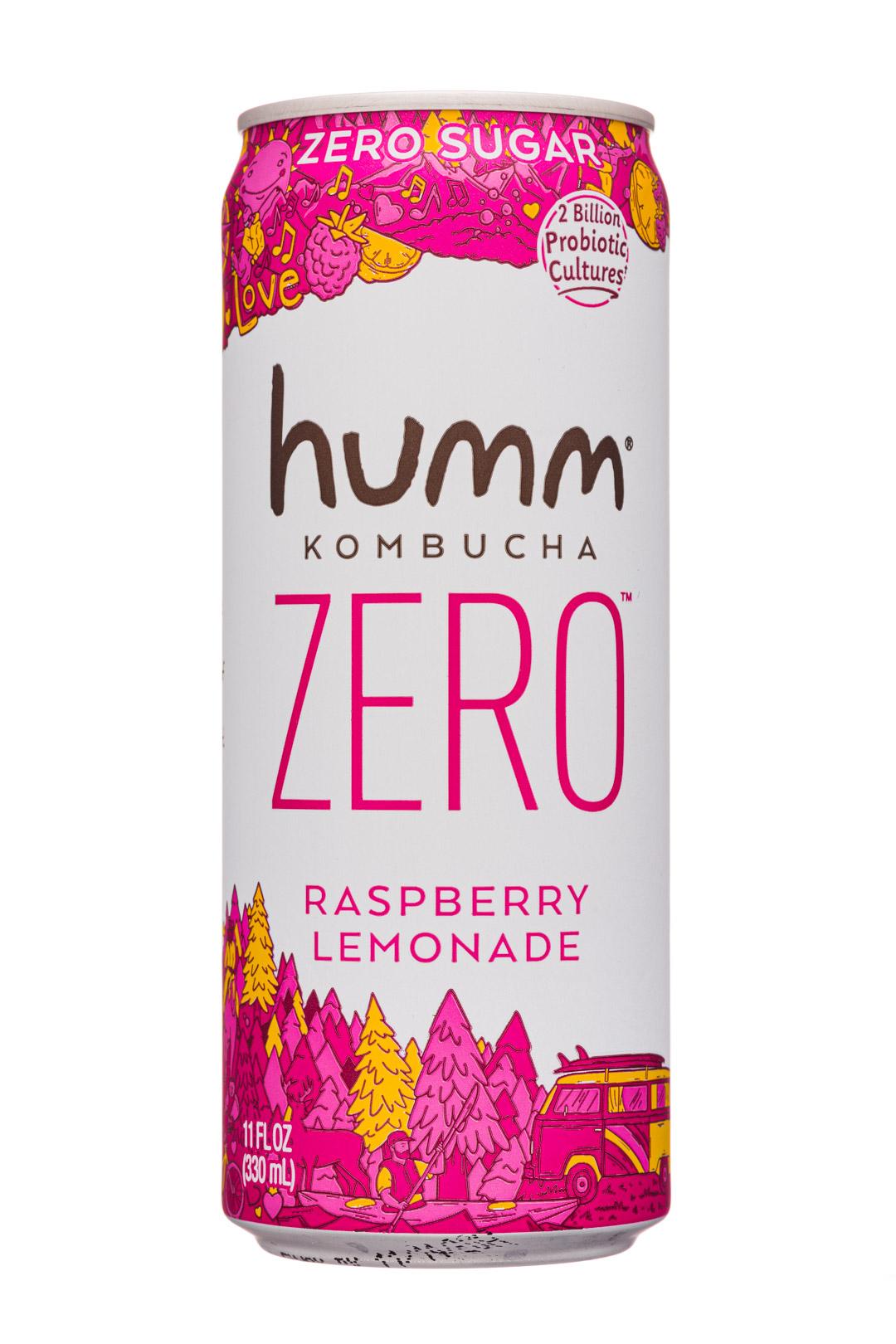 humm kombucha: Humm-11oz-2020-KombuchaZero-RaspLemonade-Front