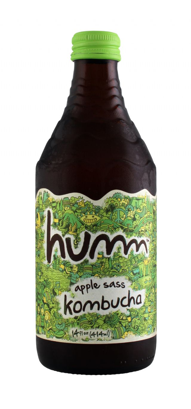 humm kombucha: Humm AppleSass Front