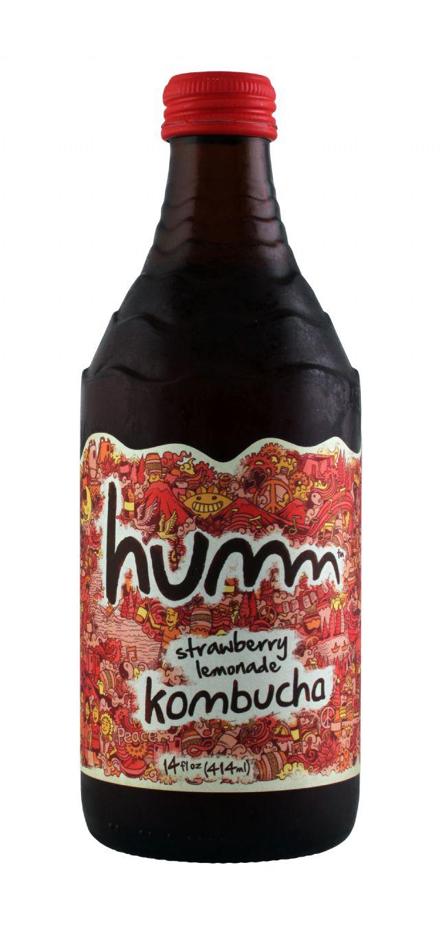 humm kombucha: Humm StrawLem Front