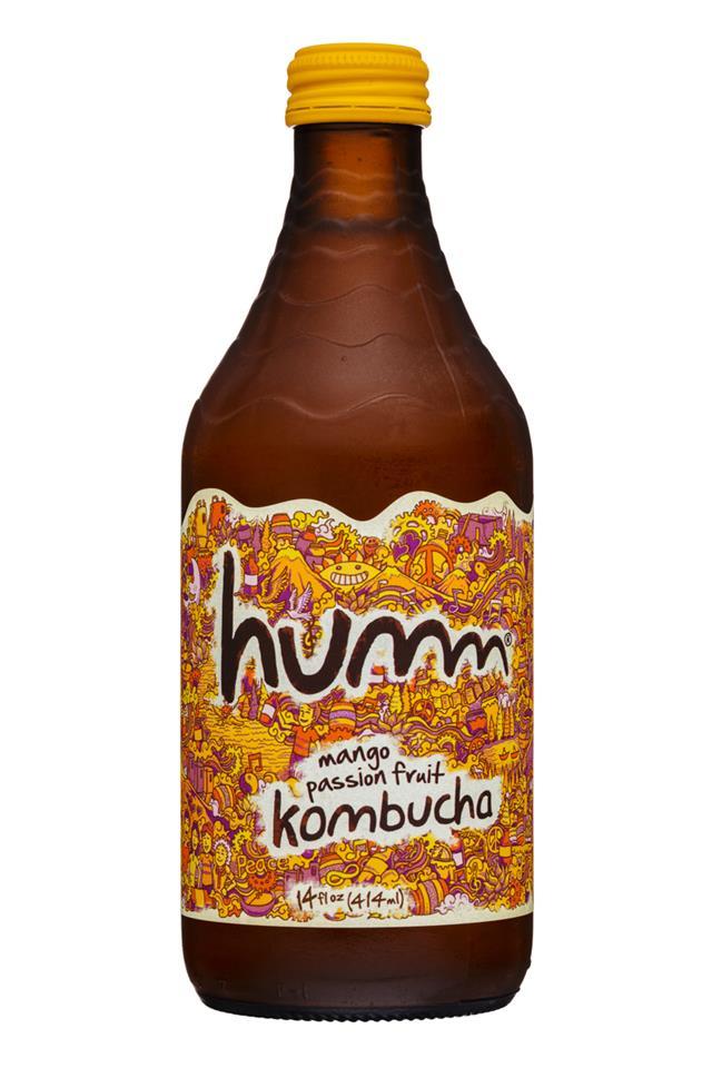 humm kombucha: Humm-14oz-Kombucha-MangoPassion-Front