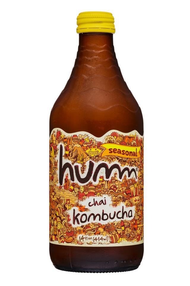 humm kombucha: Humm-14oz-Kombucha-Chai-Front