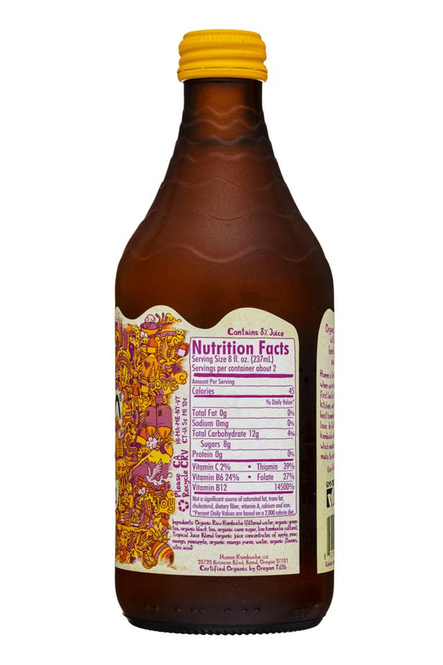 humm kombucha: Humm-14oz-Kombucha-MangoPassion-Facts