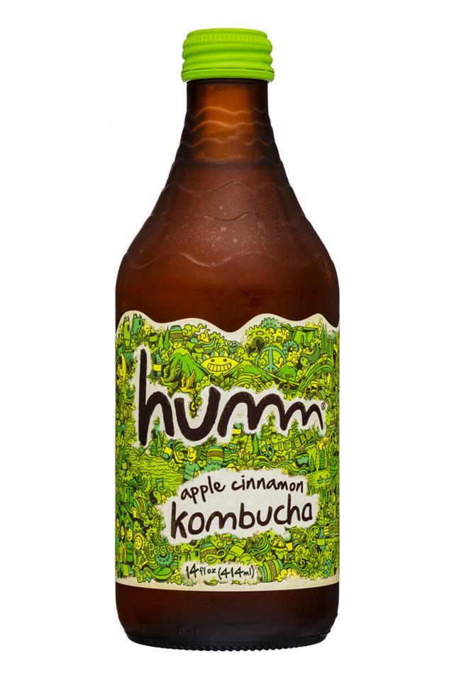 humm kombucha: Humm-14oz-Kombucha-AppleCinnamon-Front