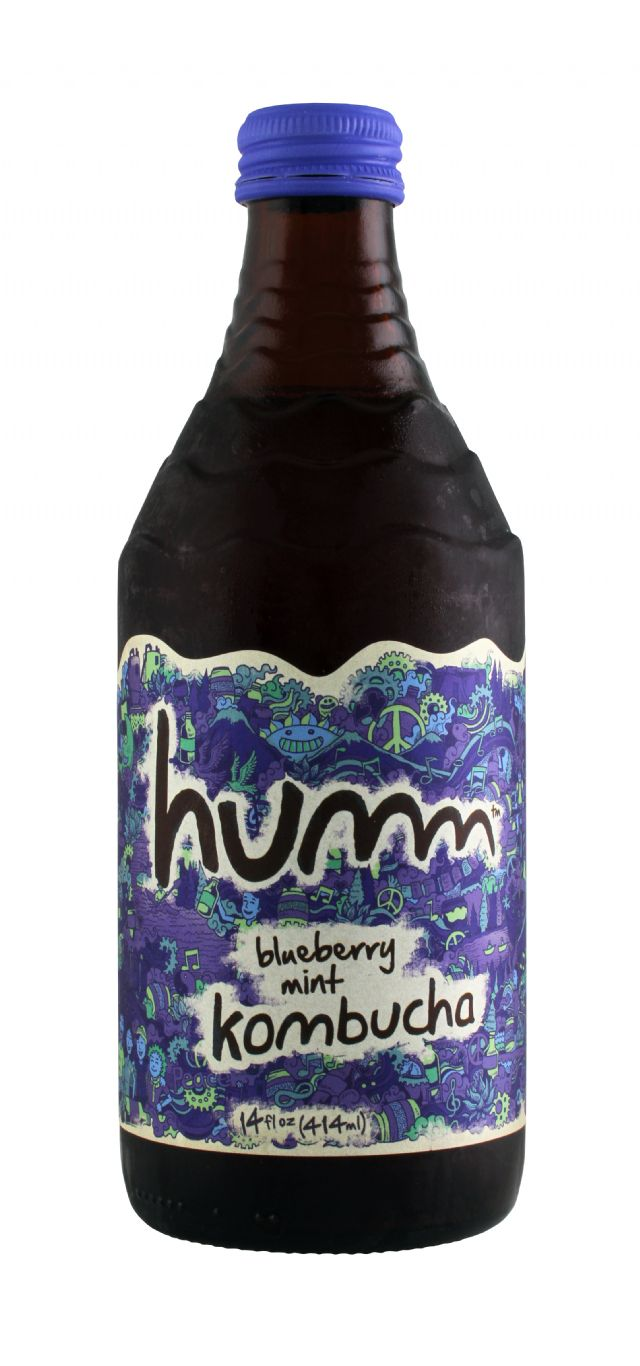 humm kombucha: Humm BlueMint Front