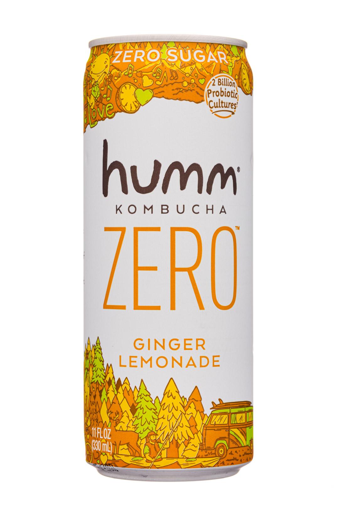 humm kombucha: Humm-11oz-2020-KombuchaZero-GingerLemonade-Front