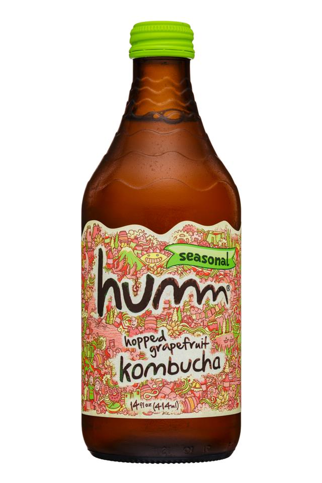 humm kombucha: Humm-14oz-Kombucha-HoppedGrapefruit-Front