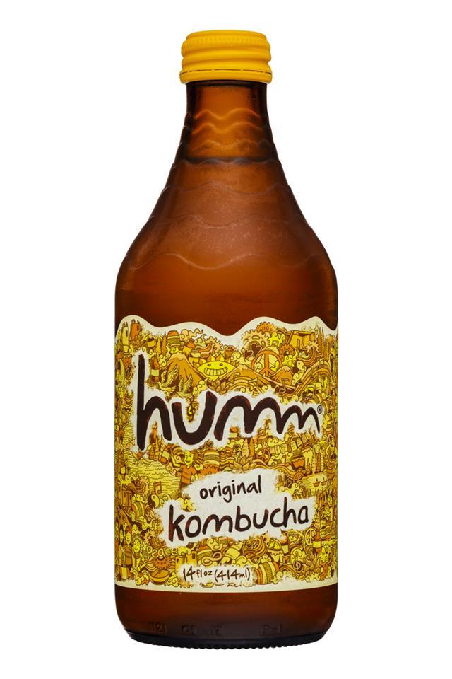humm kombucha: Humm-14oz-Kombucha-Original-Front