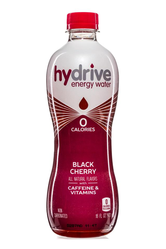 Hydrive Energy Water: Hydrive-EnergyWater-16oz-BlackCherry-Front