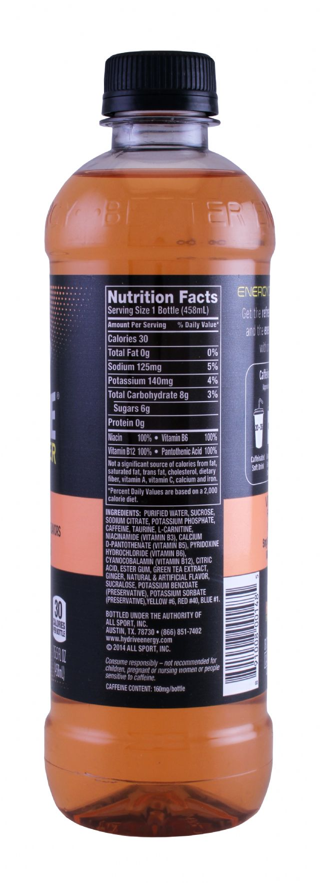 HYDRIVE Energy Drink: Hydrive MangoPeach Facts