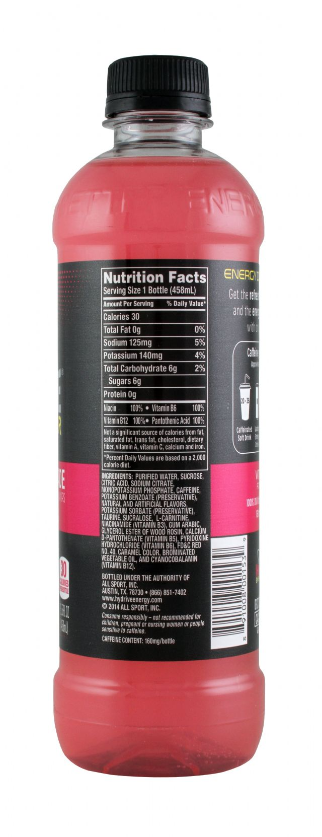 HYDRIVE Energy Drink: Hydrive RaspLem Facts
