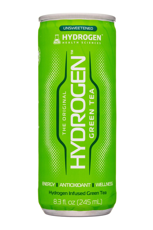 Hydrogen Health Sciences: HydrogenHealthSciences-8oz-Hydrogen-GreenTea-Front