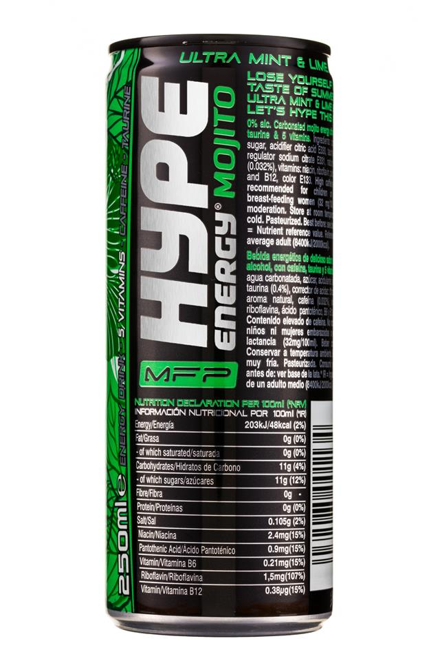 Hype Energy: HypeEnergy-MFP-Can-MintLime-Mojito-Facts