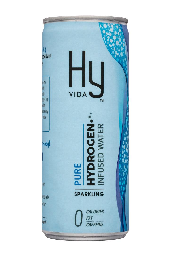 HyVIDA: HyVida-8oz-HydrogenWater-Sparkling-Pure-Front