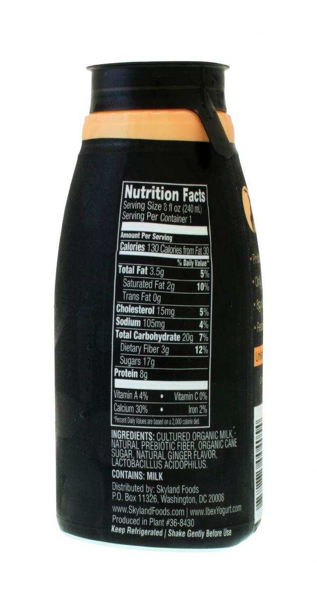 Ibex Drinkable Yogurt: IBEX Ginger Facts