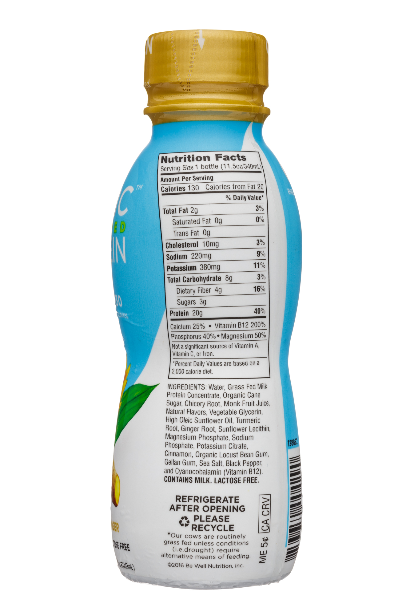 Iconic: Iconic-12oz-GrassFedProtein-TurmericGinger-Facts