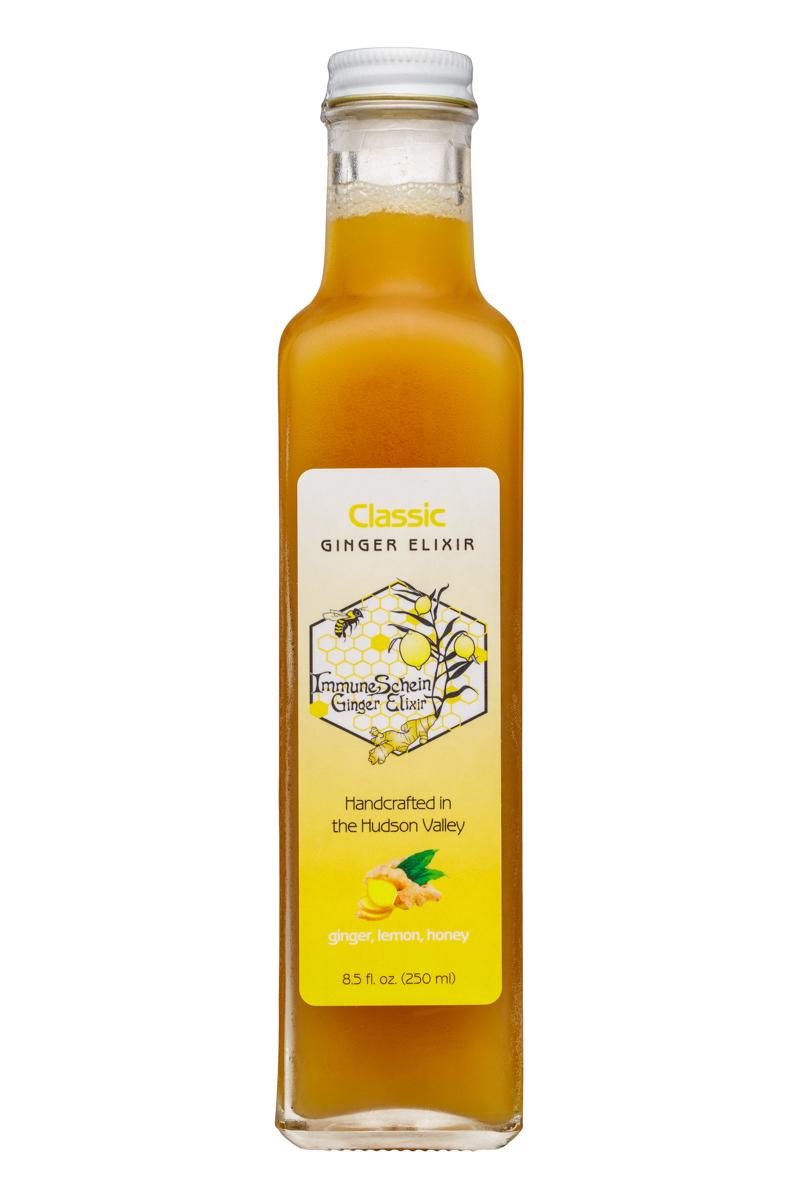 ImmuneSchein Ginger Elixir: ImmuneSchein-9oz-GingerElixer-Front