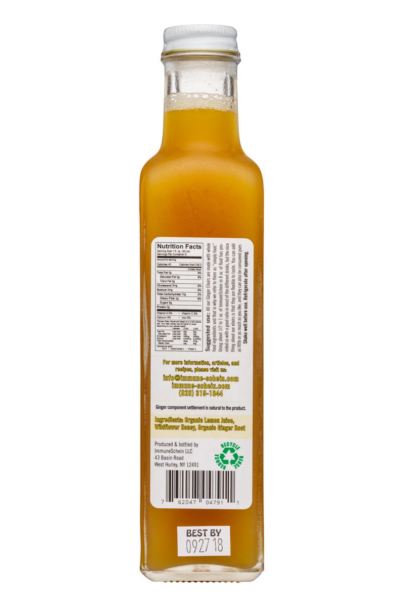 ImmuneSchein Ginger Elixir: ImmuneSchein-9oz-GingerElixer-Facts