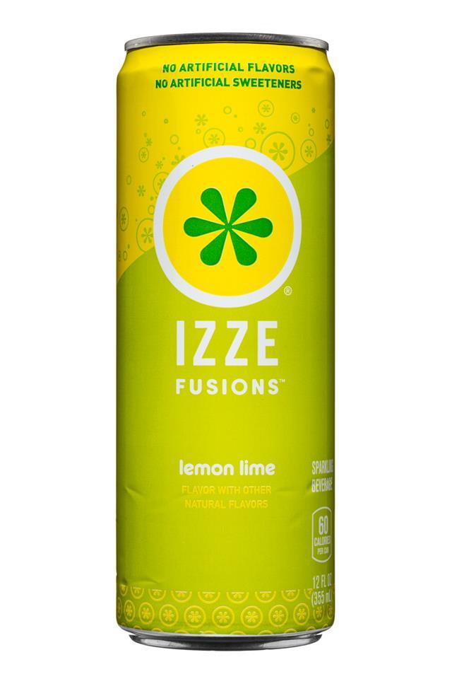 IZZE Fusions: Izze-Fusions-12oz-LemonLime-Front