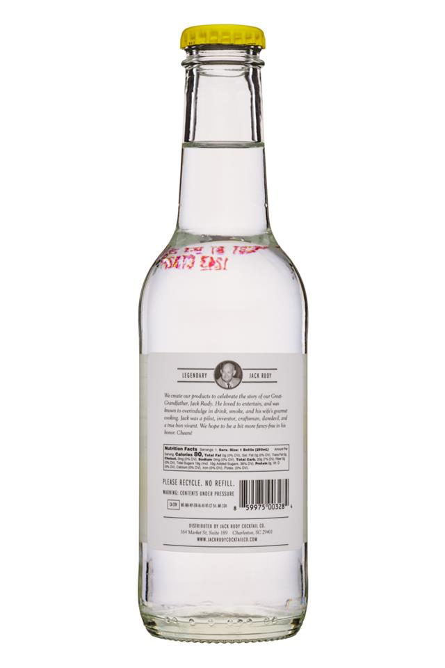 Jack Rudy Cocktail Co.: JackRudyCocktailCo-8oz-TonicWater-Facts