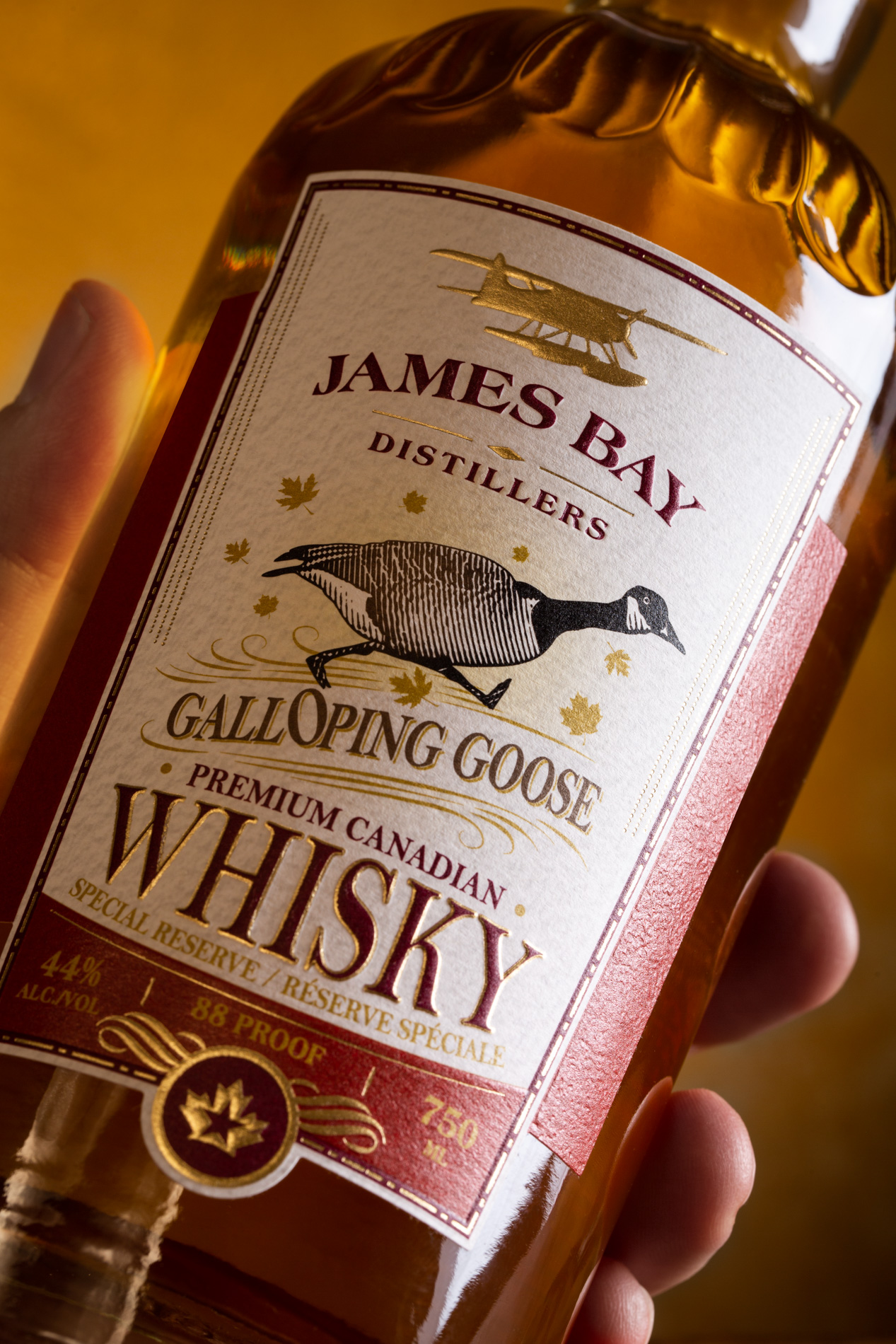 James Bay Distillers: Photo of Galloping Goose Premium Canadian Whisky - James Bay Distillers (uploaded by company)