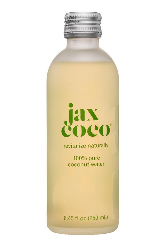 Jax Coco Sparkling : JaxCoco-8oz-CoconutWater-Pure-Front