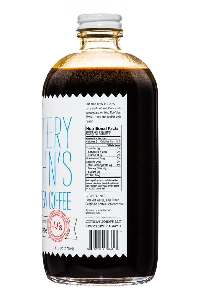 Jittery John's Cold Brew: JitteryJohns-NewOrleansStyle-Concentrate-Facts