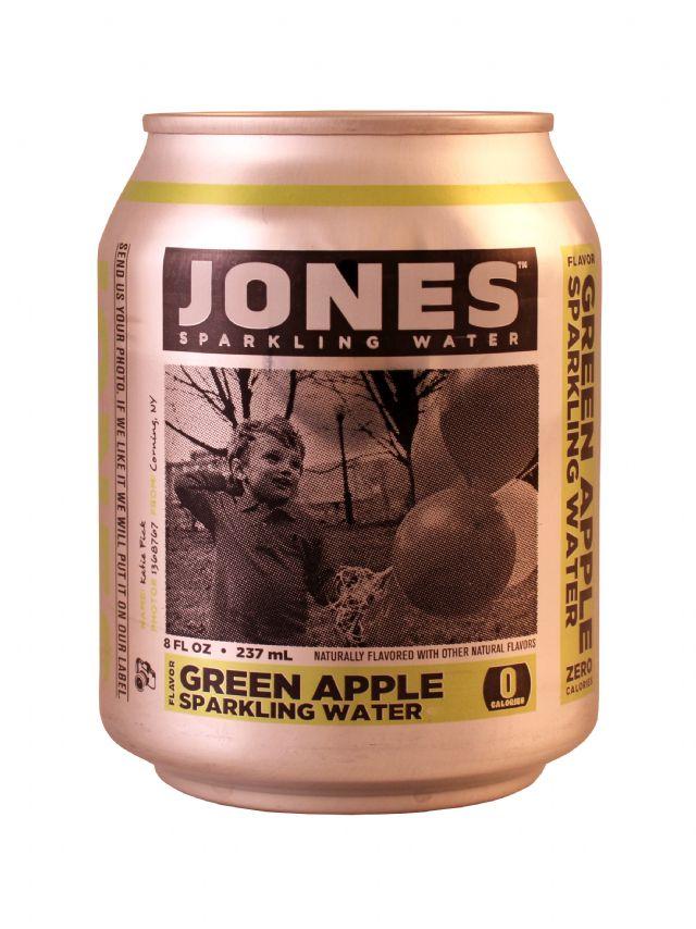Jones Sparkling Water: Jones GreenApple Front