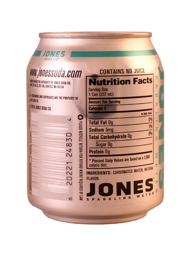 Jones Sparkling Water: Jones BerryLem Facts