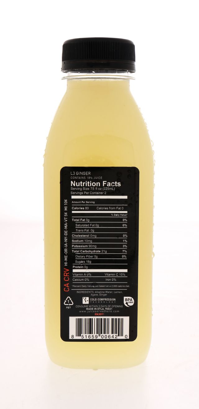 Juice Served Here Lemonade: ColdPressed Ging Facts