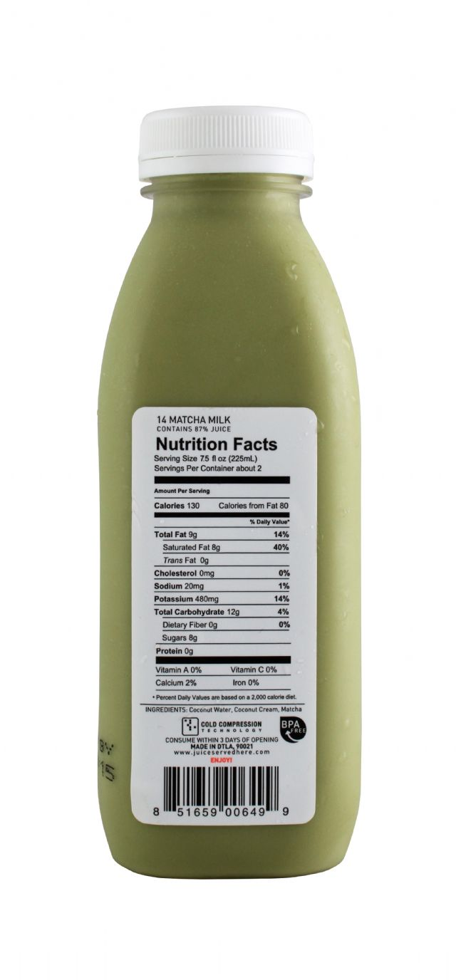 Juice Served Here: JuiceServed MatchaMilk Facts