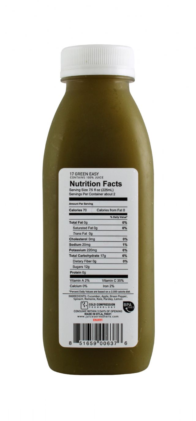 Juice Served Here: JuiceServed GreenEasy Facts