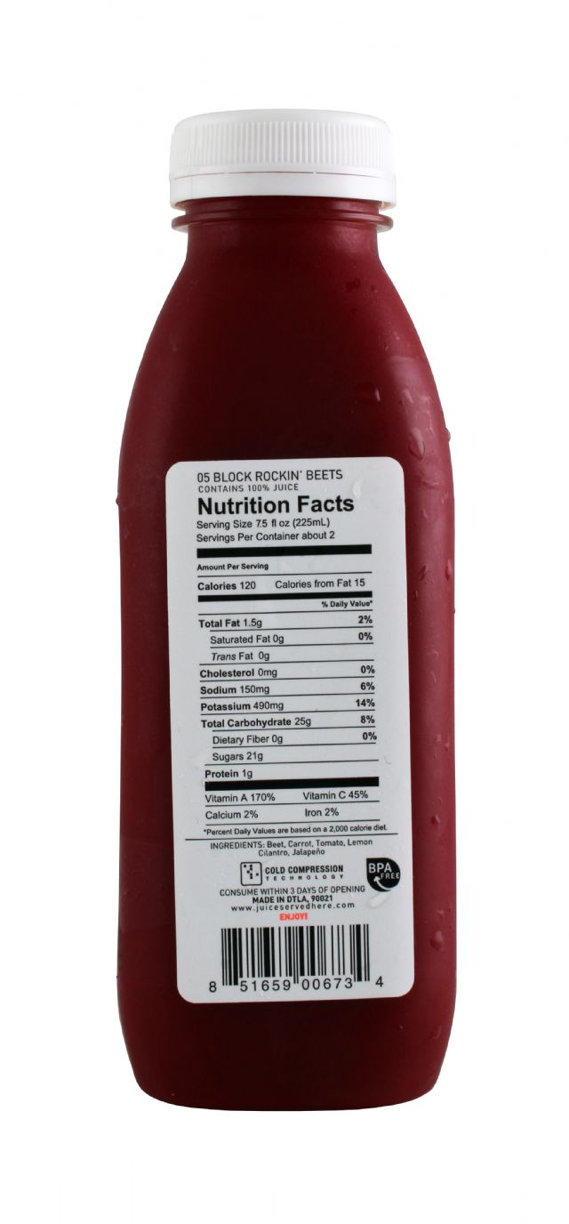 Juice Served Here: JuiceServed BlockRockingBeets Facts