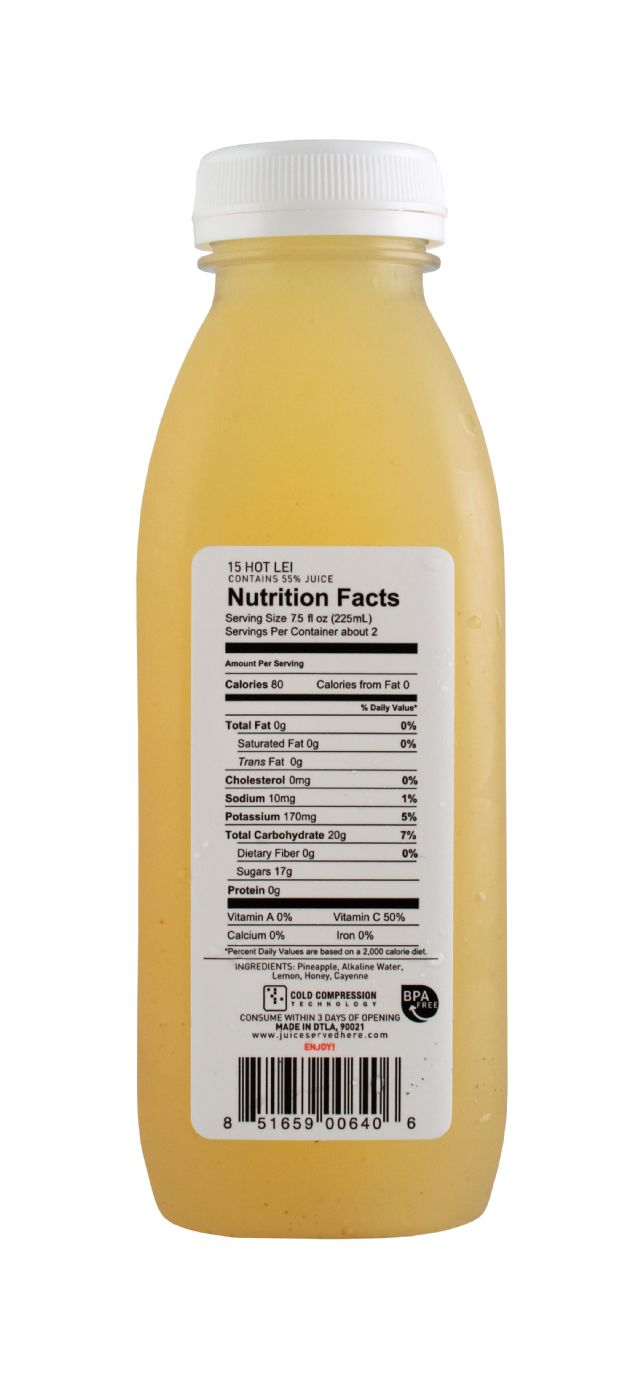 Juice Served Here: JuiceServed HotLei Facts
