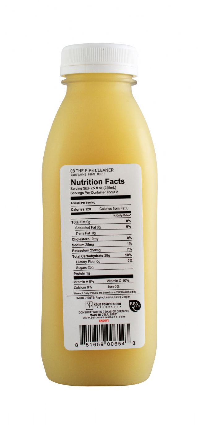 Juice Served Here: JuiceServed PipeClean Facts