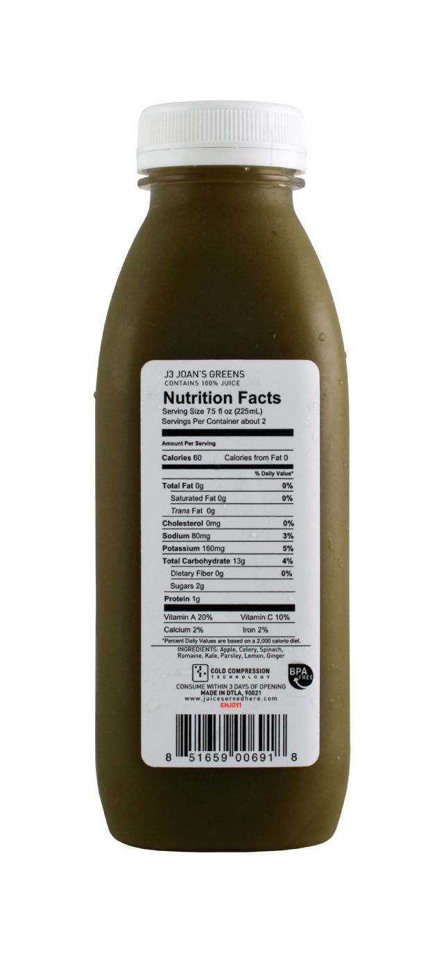 Juice Served Here: JuiceServed Joansgreens Facts