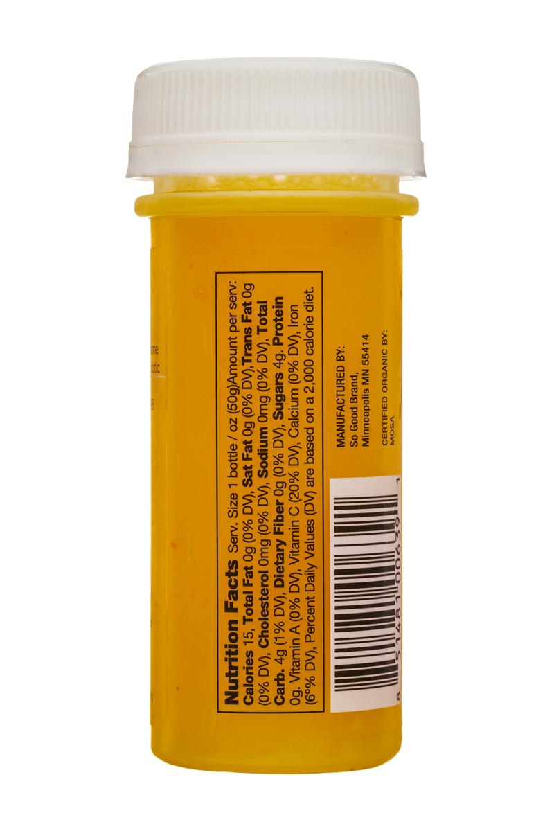 Juice So Good Probiotic Wellness Shots: SoGood-2oz-WellnessShot-Immunity-Facts