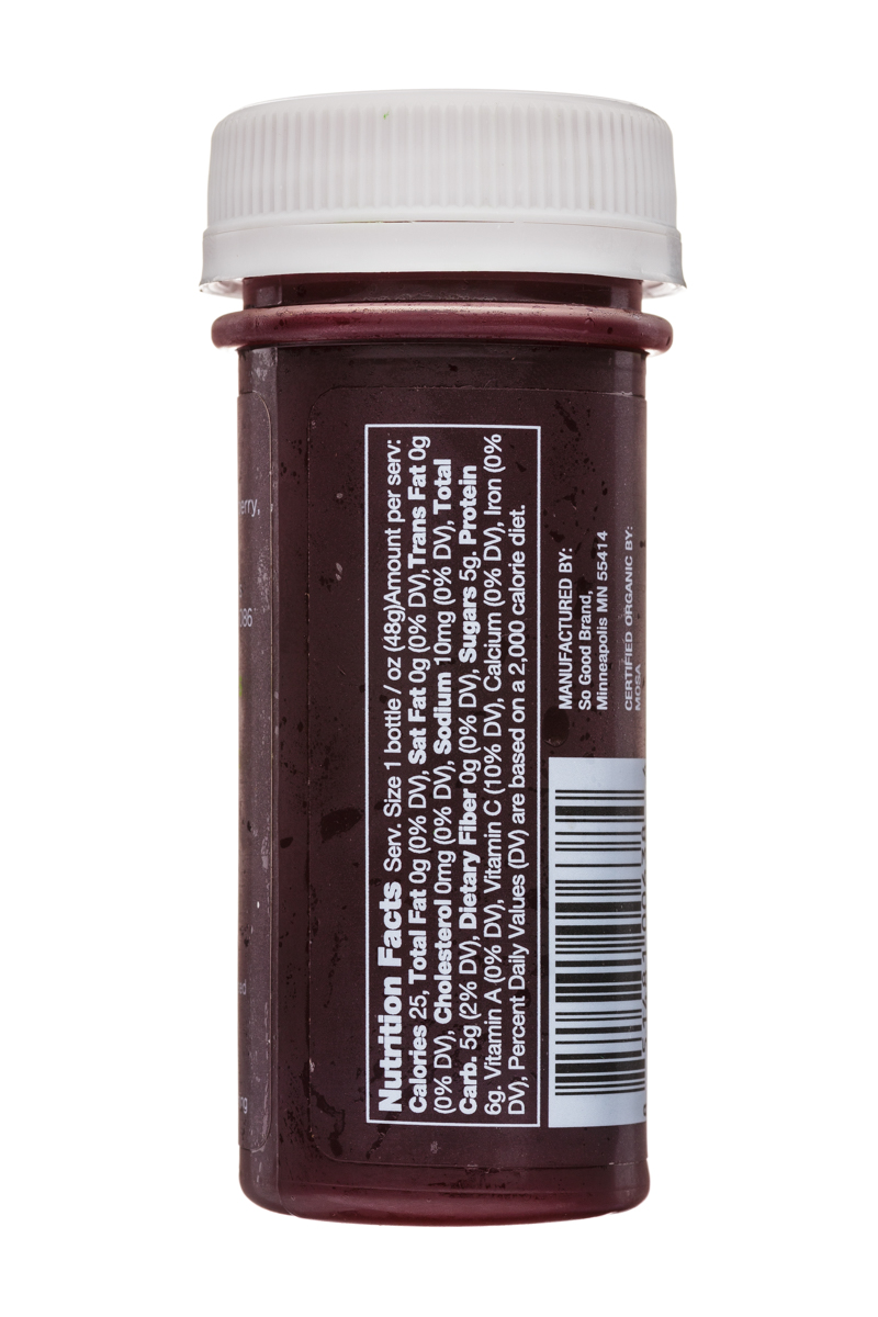 Juice So Good Probiotic Wellness Shots: SoGood-2oz-WellnessShot-Endurance-Facts