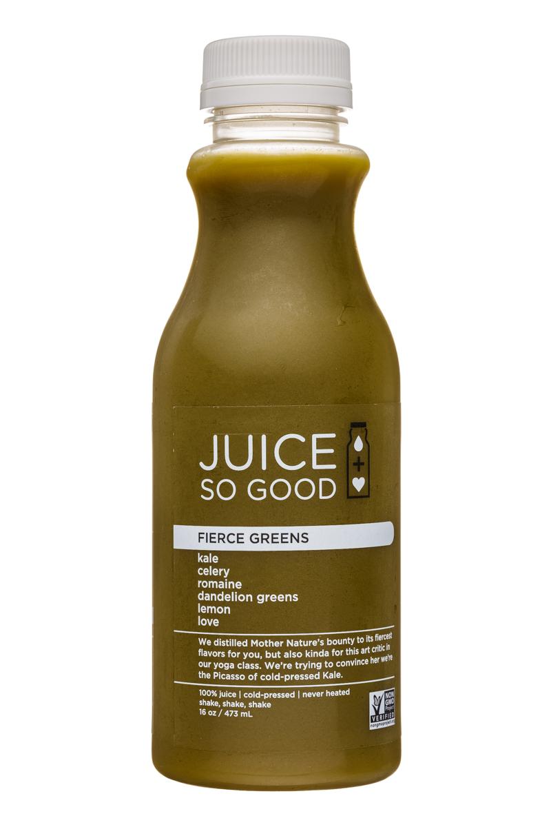 Juice So Good: JuiceSoGood-16oz-FierceGreens-Front