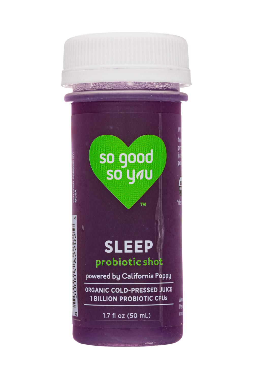 So Good So You: JuiceSoGood-2oz-2020-ProbioticShot-Sleep-Front